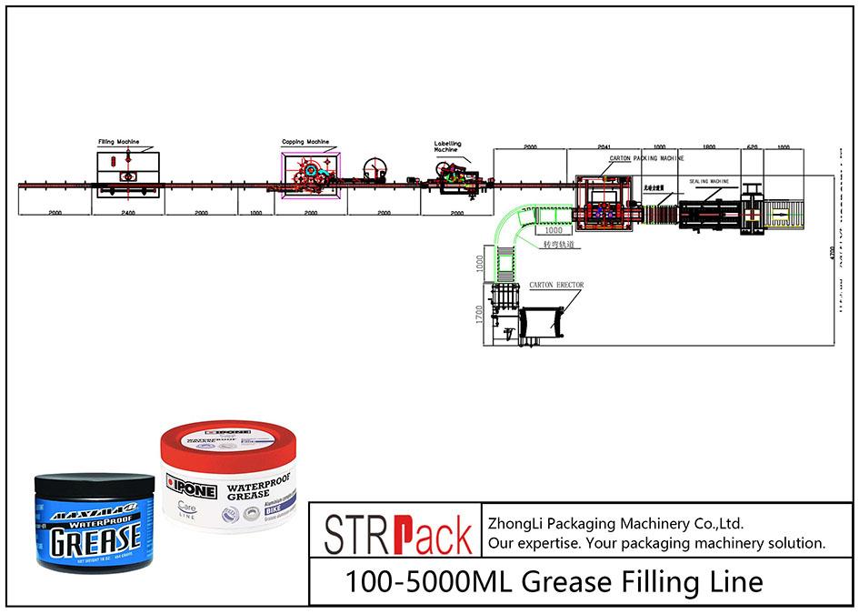 Jalur Pengisian Lemak 100 ML-5L otomatis