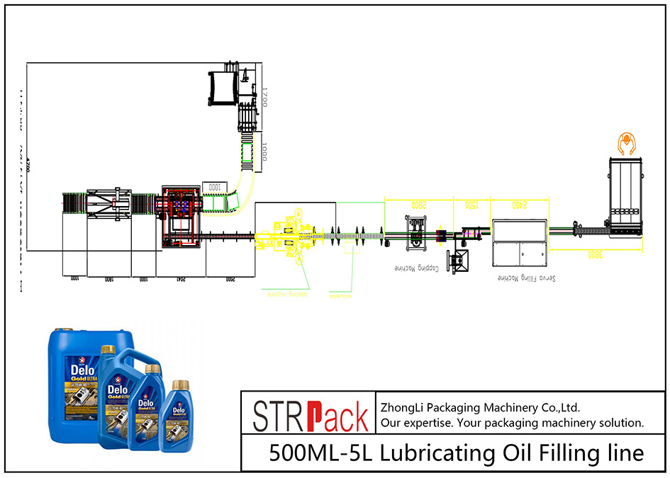 Jalur Pengisian Oli Pelumas 500 ML-5L otomatis